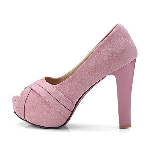 Chaussures Rose la à TAOFFEN Femmes Peep mode Toe R0qFvgdZw