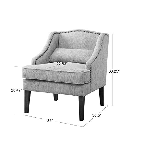 Madison Park Baylor Swoop Arm Accent Chair Grey Multi See Below