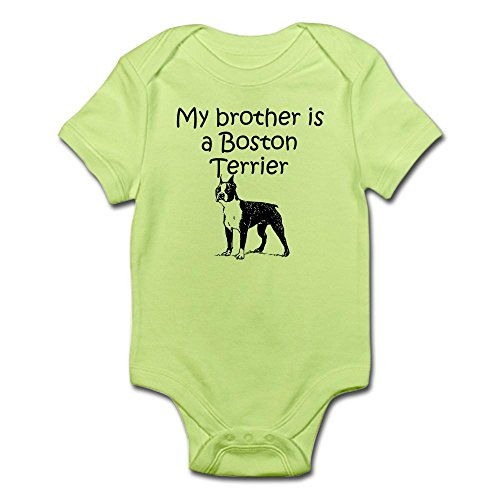 CafePress - My Brother Is A Boston Terrier Body Suit - Cute Infant Bodysuit Baby Romper