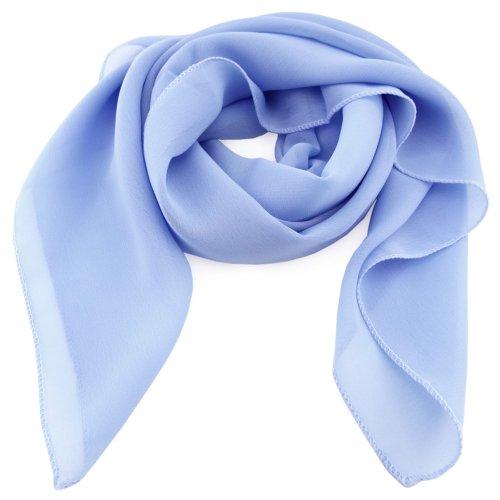damesfoulard bleu claire bleu azur unicolor - tissu foulard écharpe
