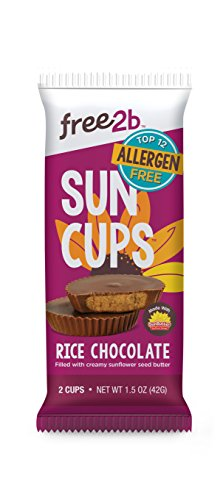 Sun Cups Candy, Rice Chocolate, 1.5 Ounce (Pack of 12)
