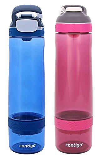 Contigo 2-Pack Autoseal Infuser Bottles, Monaco/Very Berry
