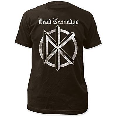Dead Kennedys Distressed Old English Logo Print Men's Cotton Shirt