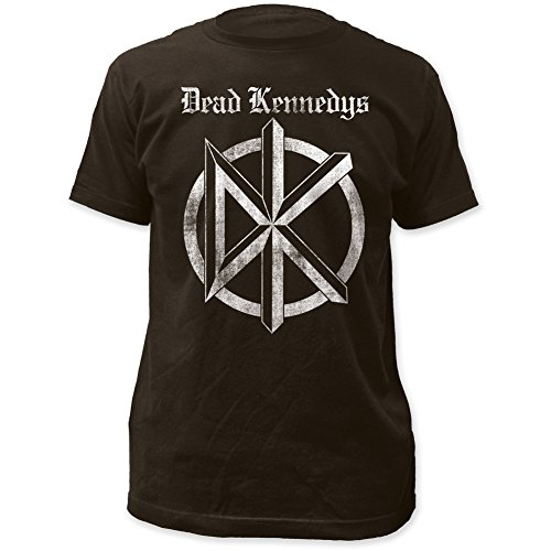 Dead Kennedys Distressed Old English Logo Print Men's Cotton Shirt Medium Coal ()