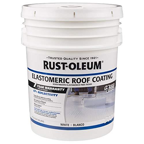 Rust Oleum 7 Year Elastomeric Roof Coating Waterproof Paint 18 L White Amazon In Home Improvement