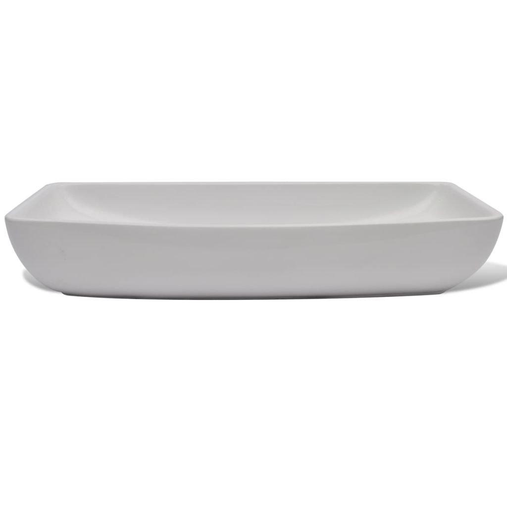 Luxury Bathroom Sink Ceramic Basin Rectangular Sink White Wash Basin Size 28'' x 15'' Practical Vessel for Everyday Use by Chloe Rossetti (Image #4)
