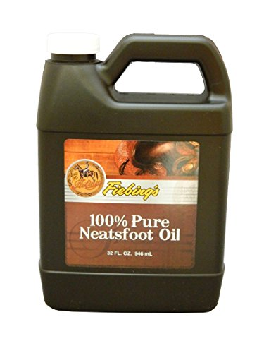 - Fiebing's 100% Pure Neatsfoot Oil, 32 oz. - Natural Leather Preservative