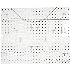 Horizontal Poly Pegboard Wall Organizer (22 x 18 inches) White