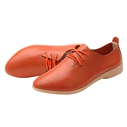 Shoes For Women Pointed Toe Casual Nurse Shoes Autumn Flat With Leather Women Shoes 2017 hot sale