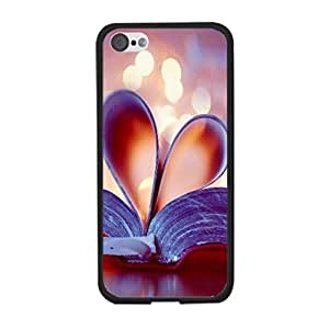 Fancy Book Style Heart Pattern Fantasy Lights Print Case Cover for Iphone 5c Hard Back Case Shell for Teen Girls
