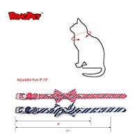 2 Pack Bow Tie Dog Collar for Small Dogs Bowtie Cat Collar by BINGPET