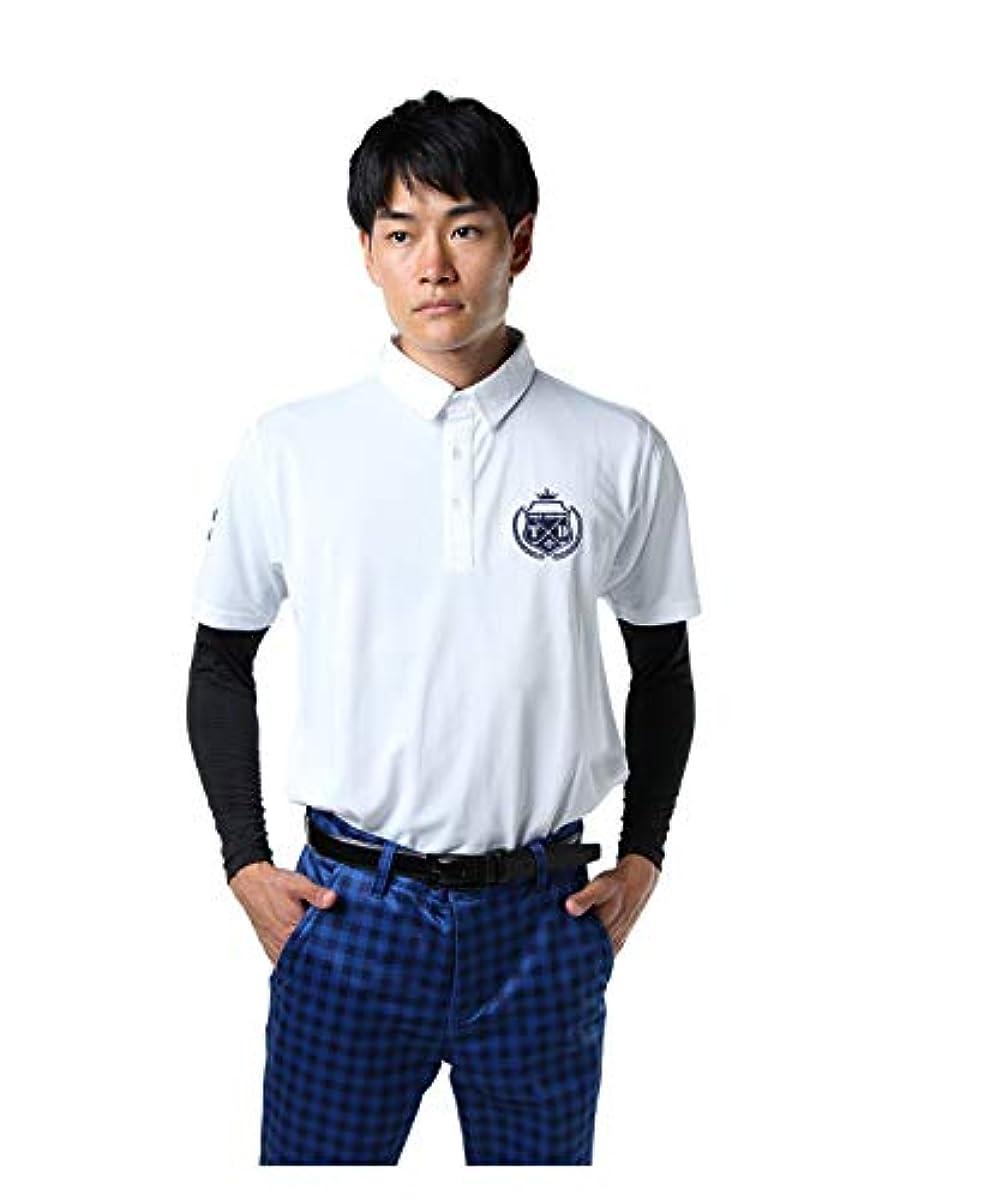 [해외] 투어 디 비젼 골프 웨어 셔츠 세트 맨즈 와펜 패치 셔츠 언더 세트 TD220211H01 WH O