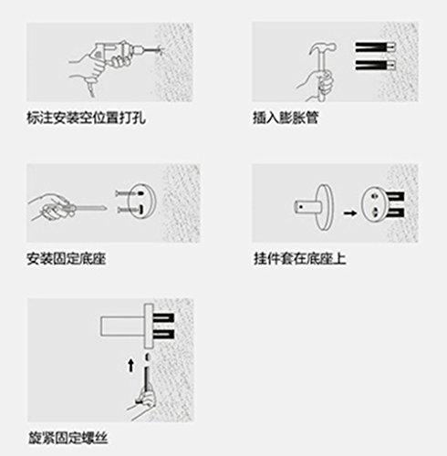 Liaozy888 Black Alloy Crystal Bathroom Hand Dryers/hairdryer Holder professional DIY by Liaozy888 (Image #7)