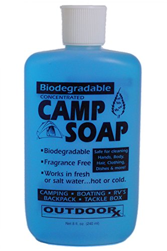 Outdoor RX Biodegradable, Concentrated, Fragrance Free Camp Soap, 8 Ounce