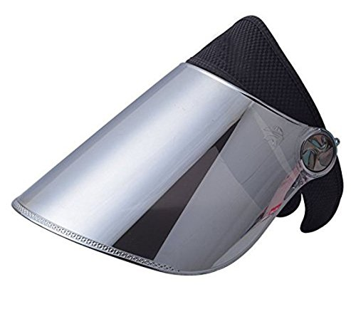 WAYCOM Sun Cap, Sun Visor Hat Black & Silver- UV Protection Hat - Headband Solar Face Shield Hat for Hiking, Golf, Tennis, Outdoors (Black & Silver)