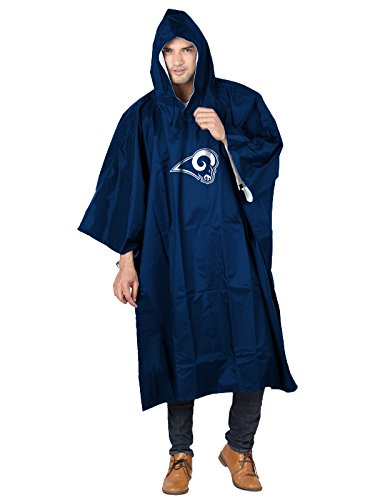 The Northwest Company Officially Licensed NFL Los Angeles Rams Unisex Deluxe Poncho, 44
