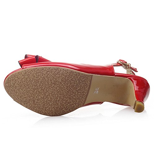 Sandales red Kitten Slingback Heel Femmes JOJONUNU nwp6q0w