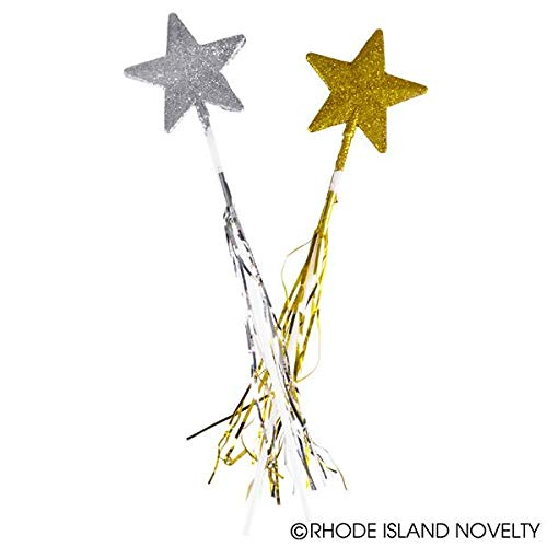 Rhode Island Novelty Glitter Star Wands (1 dz)