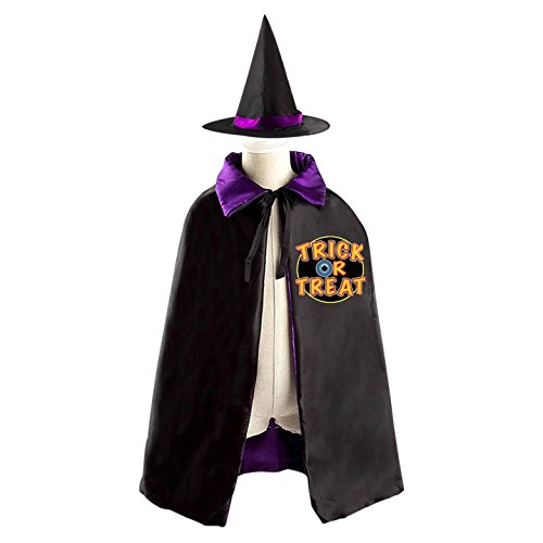 Halloween Wizard Mantissa Hat Costumes Print With Trick Logo For Unisex Cosplay In Film Premiere