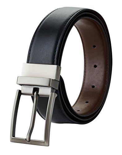Travelambo Mens Dress Belt Genuine Leather Reversible 1.25