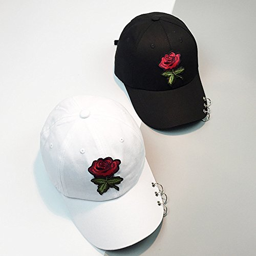 Greneral3 Women Men Rose Adjustable Baseball Cap Snapback Hip Hop Flat Hat