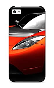 Awesome Design Tesla Roadster Sports Car Hard Case Cover For Iphone 5c