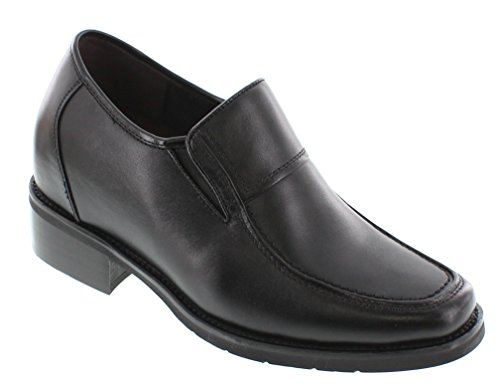 Calden - K78562-3.8 inches Taller - Super Light - Height Increasing Elevator Shoes-Black