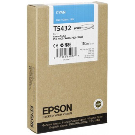 Epson INK, CYAN ULTRACHROME FOR THE - Ultrachrome Ink Cyan 9600
