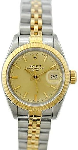 huge discount 1cf5f d5107 Amazon | ROLEX(ロレックス) デイトジャスト 69173 ゴールド ...
