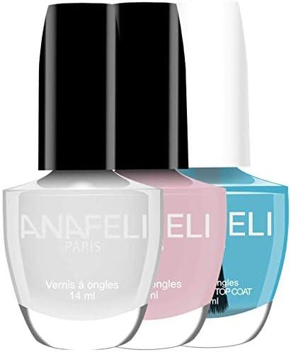 Anafeli Paris – Esmalte de uñas, pack de verano, 2 colores de la línea LAQUÉ luminosos y protector (incluido), elegante y refinado, color blanco y rosa pálido mate: Amazon.es: Belleza