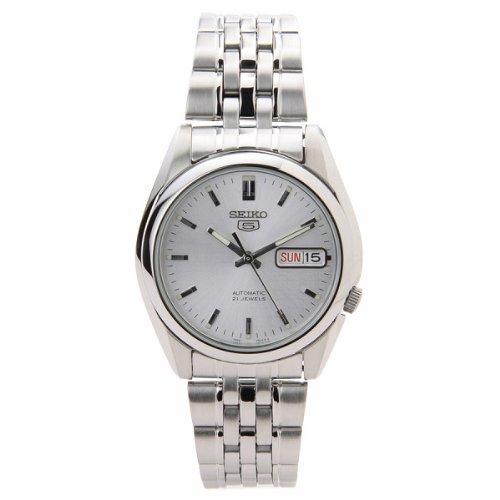 SEIKO SNK355 - Reloj de Caballero movimiento automático con brazalete metálico, plata: Seiko: Amazon.es: Relojes