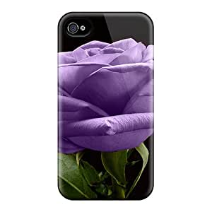 New Style Tpu 4/4s Protective Case Cover/ Iphone Case - Purple