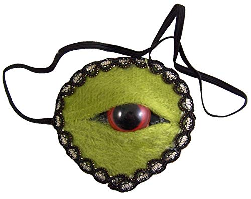 Green Zombie Monster Eye Patch, 3 Inch -
