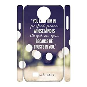 Beautiful quotes DIY 3D Cover Case for SamSung Galaxy S4 I9500,Beautiful quotes custom 3d cover case