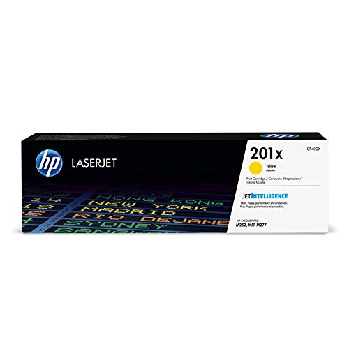 (HP 201X (CF402X) Toner Cartridge, Yellow High Yield for HP Color Laserjet Pro M252dw M277 MFP M277c6 M277dw MFP)