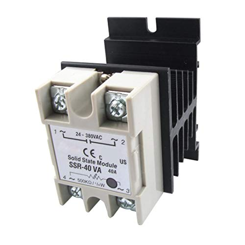 Voltage Resistance Regulator Solid State Relay SSR 40A 24-380V AC w Heat Sink