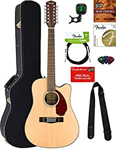 fender cd 140sce 12 dreadnought acoustic electric guitar 12 string natural bundle. Black Bedroom Furniture Sets. Home Design Ideas