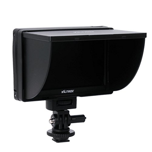 PROST Viltrox DC-50 HD Clip-on Portable 5' LCD Monitor with HDMI Video Input with Standard & Sony Shoes for Canon Nikon Sony by Prost