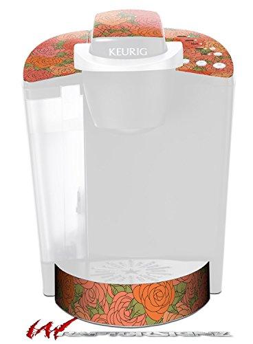Flowers Pattern Roses 06 - Decal Style Vinyl Skin fits Keurig K40 Elite Coffee Makers