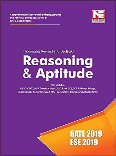 Buy Reasoning & Aptitude for GATE & ESE (Prelims) 2019