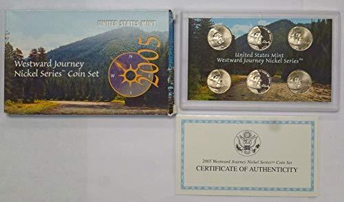 2005 P D S Westward Journey Nickel Series 6 Coin Set PF/ UNC  ()