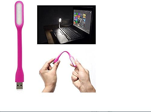 G/én/érique Portable cou flexible en m/étal ultra Bright LED 1,2/W Lumi/ère USB pour ordinateur Clavier PC Nuit lampe de lecture livre blanc