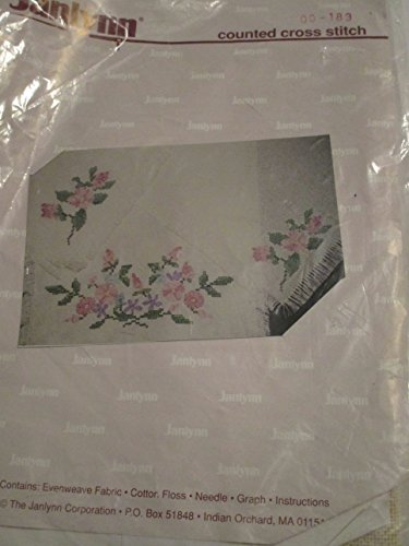 Janlynn Counted Cross Stitch Evenweave Fabric Scarf/Placemat