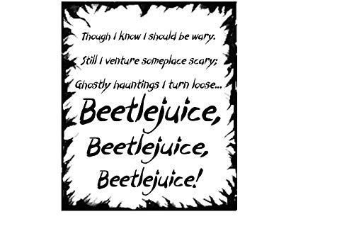 Kreative Decals Beetlejuice (22x26 Black) -