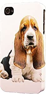 Droopy Ears Basset Hound Dimensional Case FitsFor Apple Iphone 4/4S Case Cover