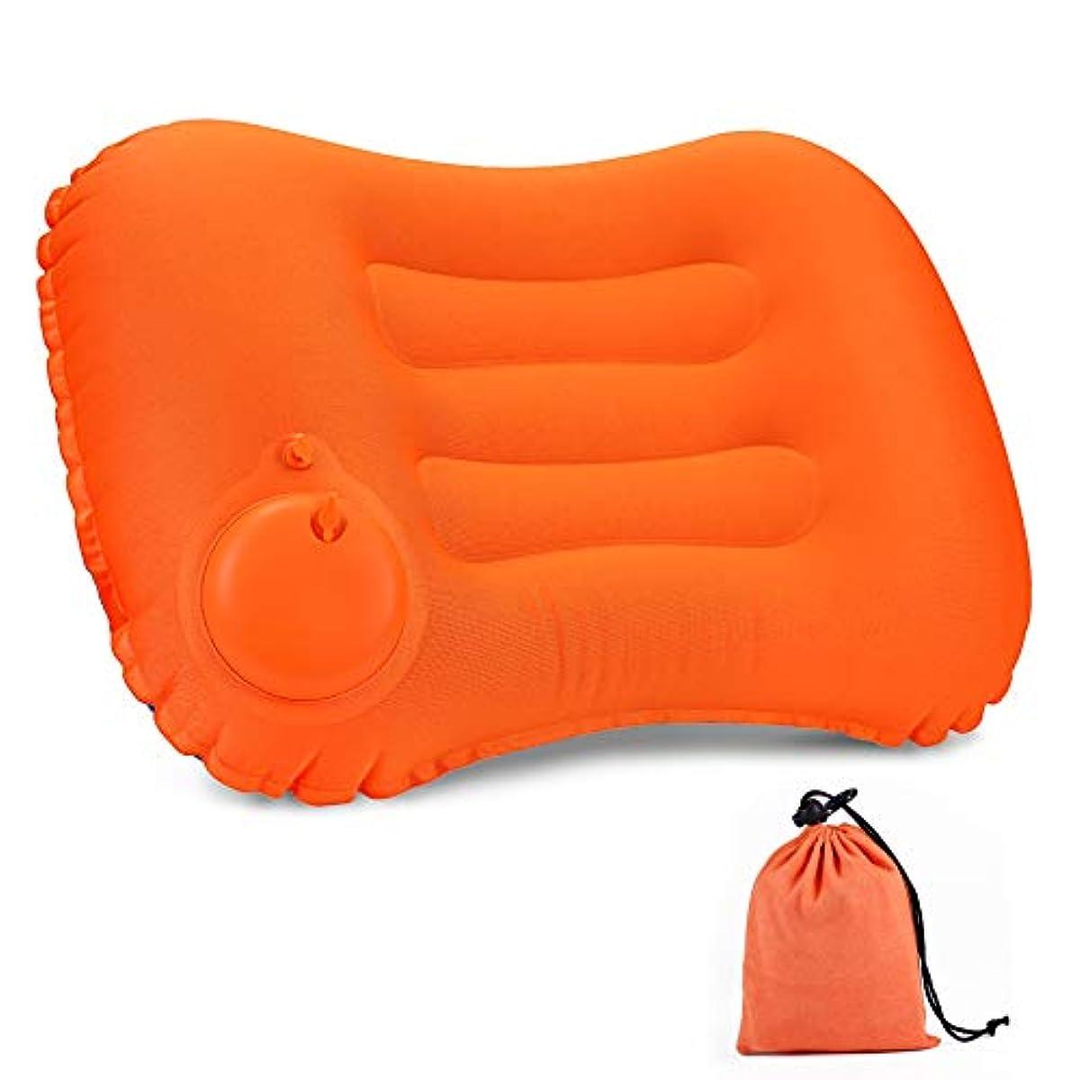 [해외] 에어 pillow 캠프 베개 수동 프레스식 캠프침 공기침 여행용 침경량 휴대침 사무실 차 안박 아웃도어용 수납 봉투 첨부 1년건 보증