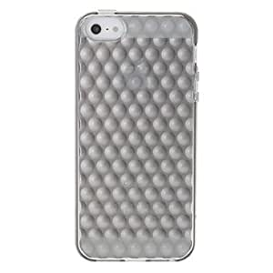 ZCL Special Designed 3D Round Dot Pattern Transparent Protective Case for iPhone 5/5S (Assorted Colors) , Blue