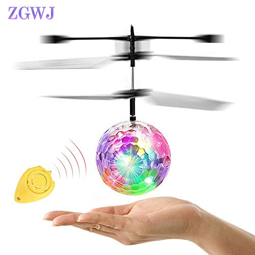 RC Flying Ball,Flying Ball Toys for Kids,Infrared Induction Helicopter Drone with Colorful Shinning LED Light and Remote Controller for Indoor and Outdoor Games,Best Gifts for Girls