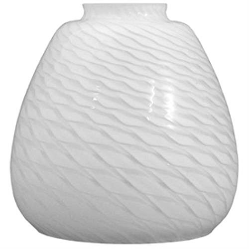 Lowes (#0321871) Swirl Replacement Vanity Shade, White- Lot of 2