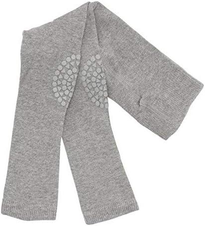12-18m GoBabyGo Original Non-Slip Baby Crawling Tights Anti-Slip Crawling Support for Active Children Cottonstretch 80-86cm | Grey Melange